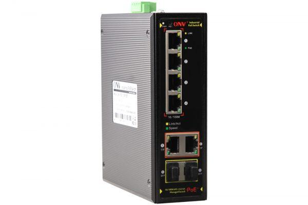 Switch công nghiệp 4 cổng POE + 2 cổng SFP/RJ45 ONV-IPS31064PFM