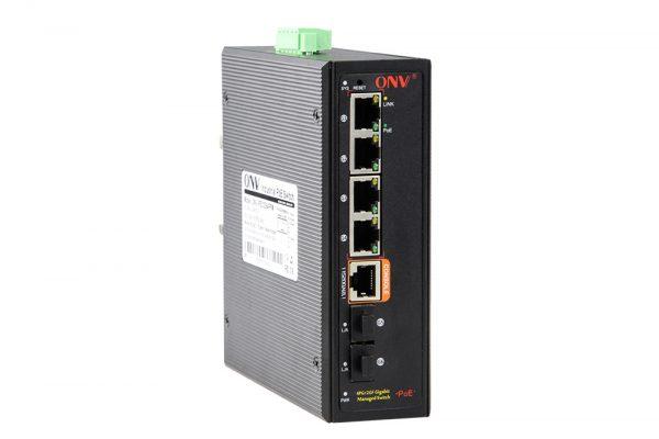 Switch công nghiệp 4 cổng POE ONV-IPS33064PFM Series